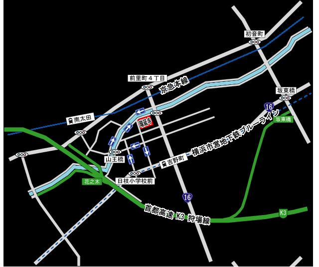 瑞延寺会館アクセス地図
